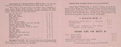 Advert for H Hammerton & Sons, boat builders, reverse side